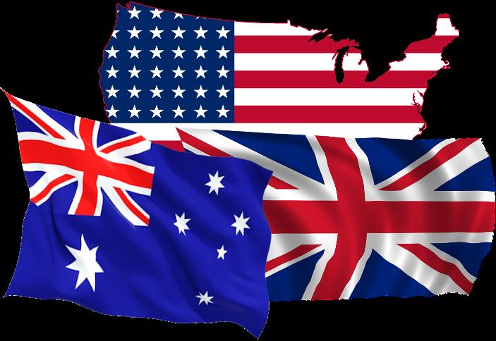 Australian, U.K & U.S